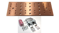 "BB-TMGB-4-12-K1 - 12"" Main Ground Bar Assembly and Hardware Kit (no lugs)"