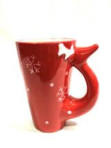CHRISTMAS CERAMIC MUG w/snowflakes #6840 each