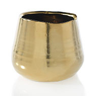 "TEGAN POT 3.35""x3"" MATTE GOLD"