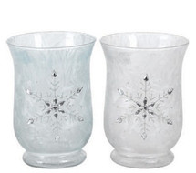 "Glass 5.75"" SNOWFLAKE VASE EACH"