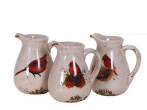 CARDINAL PITCHER POTTERY 3 STY