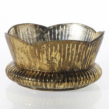 "LAVISH BOWL 6.25""x3.5"" GOLD EA"