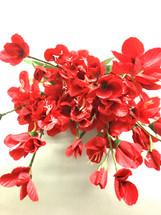 Silk satin glad bush x9 red ea