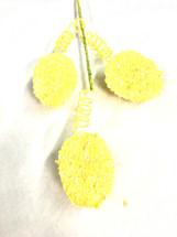 """Easter Egg Yellow Glitter spray 16.5"""" each"""