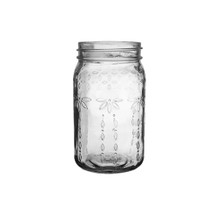 "Jardin Vintage Jar 6 1/2"" Clear 24cs."