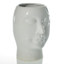 "Beau Vase 5.25"" x 4.75"" x 6.75"" White each"