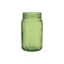 "Jardin vintage jar 6 1/2"" Green 24cs."
