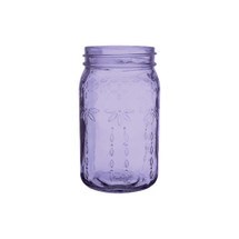 "Jardin vintage jar 6 1/2"" Purple 24cs."