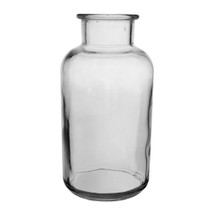 "Apothecary bottle clear 7 7/8"" 12cs"