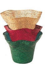 Grass Hat planter #3997 grn/go