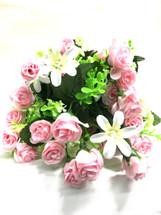 Pink mini rose bush w/filler e