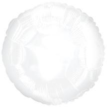 Mylar white round balloons 5/p