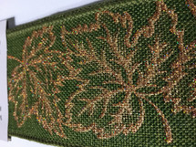 #40 DWI green burlap w/copper lvs