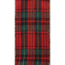 #40 DWI holiday plaid red/gold