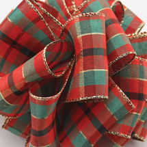 #9 DWI modern plaid red/gold 50yrds