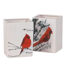 "Rectangle 6"" cardinal vase each"