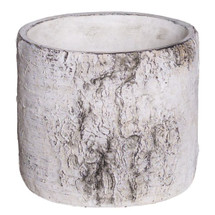 "BIRCH CYLINDER CERAMIC POT RND 6.25"" EACH"