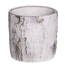 "BIRCH CYLINDER CERAMIC POT RND 7""  EACH"