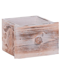 "Wooden drawer, Square 4.75""x4.25"" each"