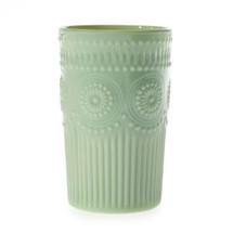 "Elena Vase Milk Green 3""x5"" each"