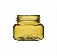 """Jardin vintage jar 3 1/2"""" Amber 24cs"""