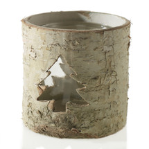 "Birch tree votive 3.75"" x 3.75 each"