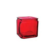 "Cubes 5""x5""x5"" ruby w/lip 12cs 3060"
