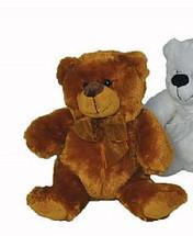 """Plush bear 12"""" dark brown each"""