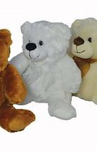 """Plush bear 12"""" white each"""