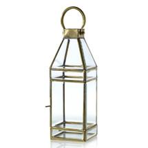 """Glass Lantern 4.5"""" x 4.5"""" x 13 each"""