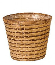 "Pot Cover 12"" Nat Bamboo each"