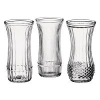 "Asst Rs Vase clear 8 1/2"" 24cs 4088"
