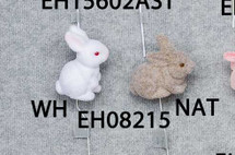 "Easter White Rabbit #8215 4"" 12 pk"