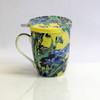Van Gogh Irises Tea Mug w/ Infuser and Lid