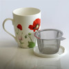 Monet Poppies Tea Mug w/ Infuser and Lid