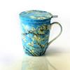 Van Gogh Almond Blossom Tea Mug w/ Infuser and Lid