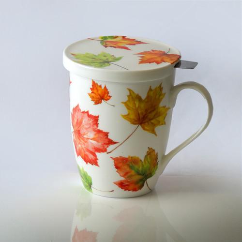 Maple Leaf Forever Tea Mug W/Infuser and Lid