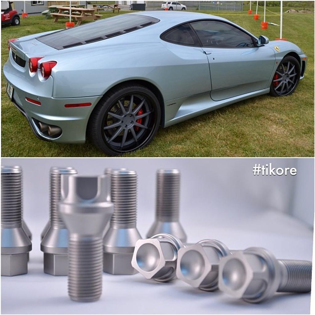 Ferrari Titanium Security Lug Bolts - Aftermarket wheels