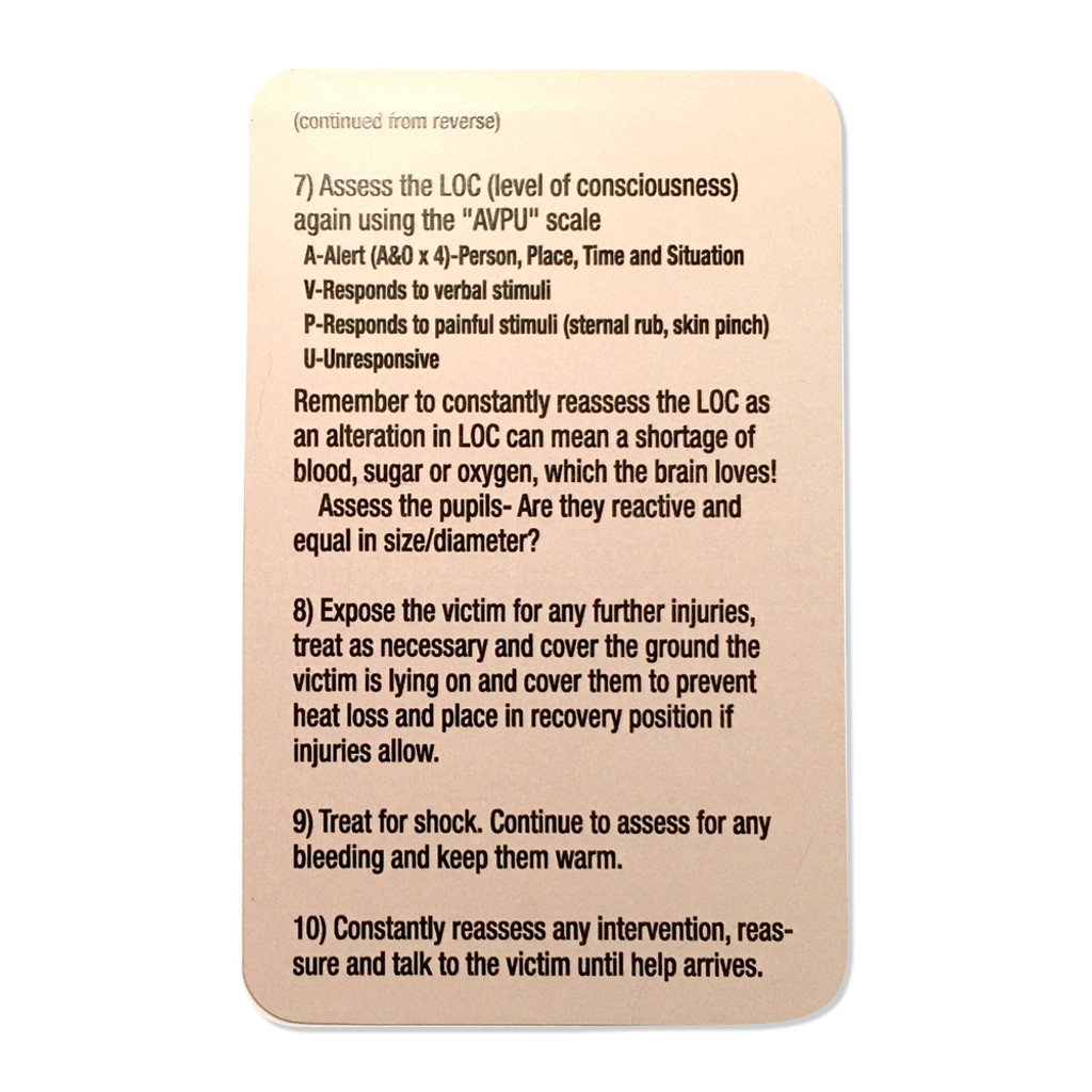 Ten Tac-Med Tip Cards