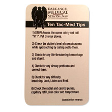 Ten Tac-Med Tip Cards