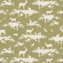 Tilda Autumn Tree Fabric - Forest Green 1/2 Metre Length