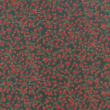 Berries Metallic - 33006 - Evergreen 1/2 Metre Length