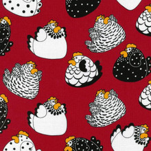Brite Happy Hens Col. 1 Red  1/2 Metre Length