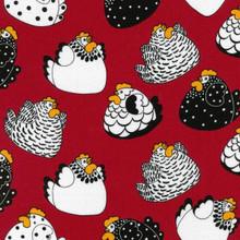 Brite Happy Hens Col. 1 Red  1/2 Metre Length
