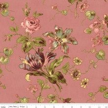 Isabella Coral Large Floral 1/2 Metre Length