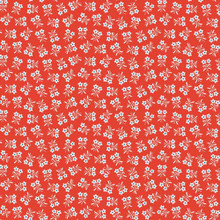 Strawberry Biscuit - Daisy Red 1/2 Metre Length