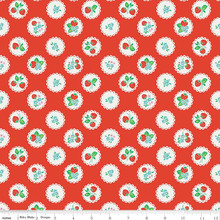 Strawberry Biscuit - Scallop Red 1/2 Metre Length
