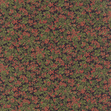 Holly Night Metallic - Berries Ebony 1/2 Metre Length