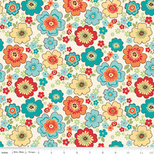 ROAD BLOSSOMS CREAM 1/2 Metre Length