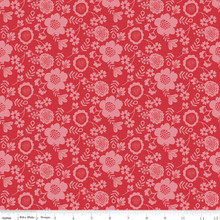 WISTFUL PETAL RED 1/2 Metre Length